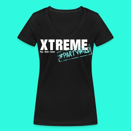 Xtreme Black Edition türkis **Ladies** - Frauen Bio-T-Shirt mit V-Ausschnitt von Stanley & Stella