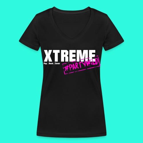 Xtreme Black Edition pink *Ladies* - Frauen Bio-T-Shirt mit V-Ausschnitt von Stanley & Stella