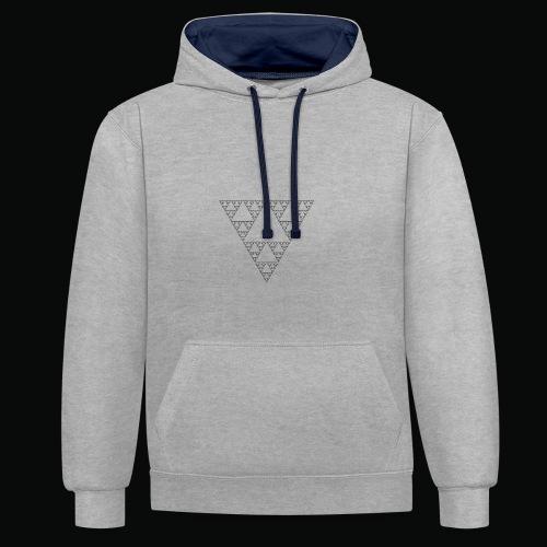 Fractal sweatshirt grey logos black - Sweat-shirt contraste