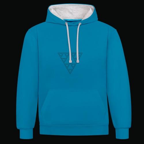 Fractal sweatshirt blue logos black - Sweat-shirt contraste