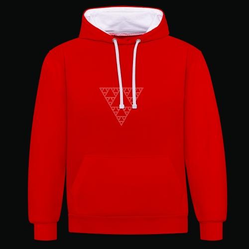 Fractal sweatshirt red logos white - Sweat-shirt contraste
