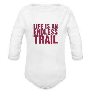 Baby-Body life is an endless trail - Baby Bio-Langarm-Body