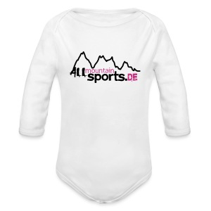 Baby-Body ALLmountainSPORTS.de - Baby Bio-Langarm-Body