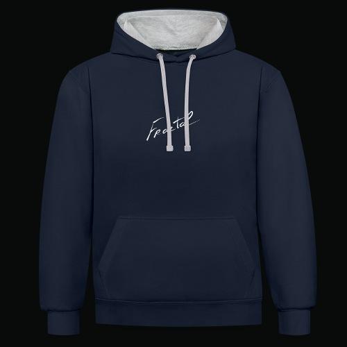 Fractal sweatshirt dark blue logos white version 2 - Sweat-shirt contraste