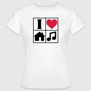 I Love House Music T-Shirts - Women's T-Shirt