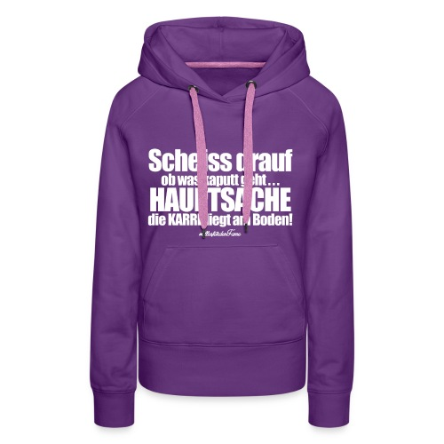 Scheiss drauf - Girl Hoodie - Frauen Premium Hoodie