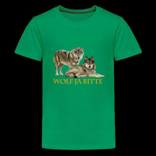 WOLF JA BITTE  - Teenager Premium T-Shirt