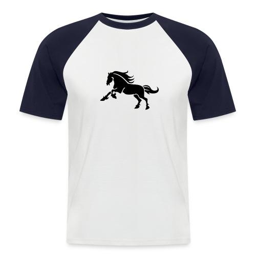 wilder Hengst - Männer Baseball-T-Shirt