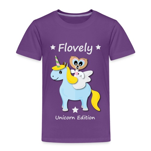 Flovely Unicorn Pink - Edition - Kinder Premium T-Shirt
