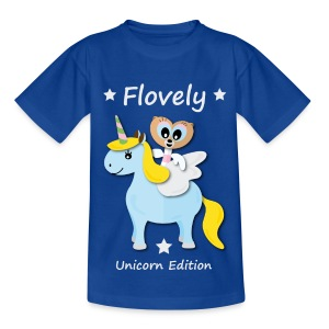Flovely Unicorn Blue - Kinder T-Shirt