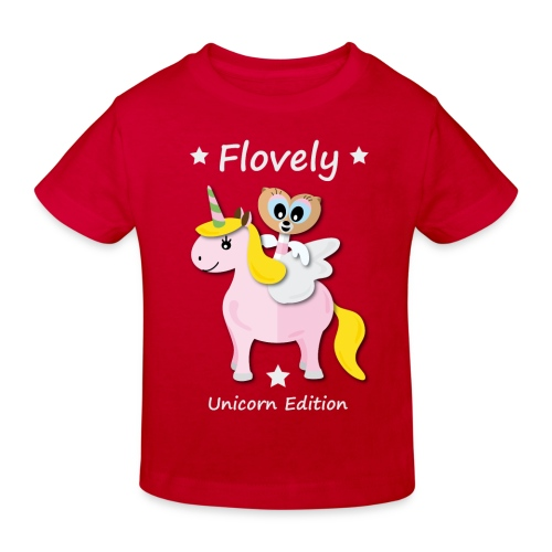 Flovely Unicorn Red - Kinder Bio T-Shirt - Kinder Bio-T-Shirt
