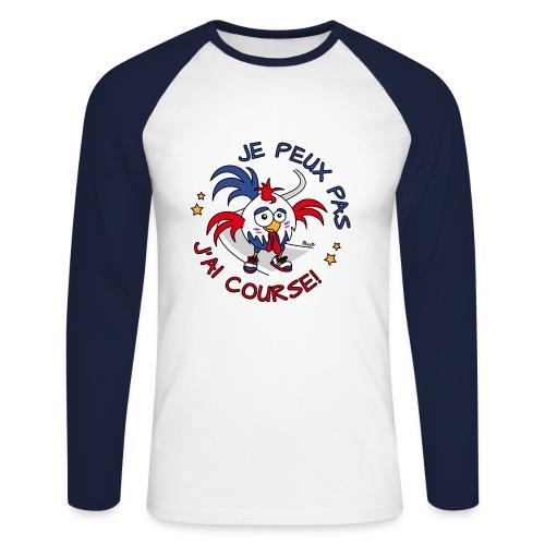 T-shirt ml Homme Coq Gaulois, Baskets, je peux pas, J'ai Course - T-shirt baseball manches longues Homme