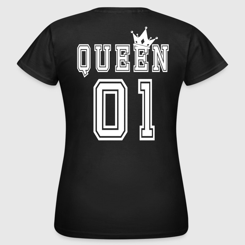 Valentine's Matching Couples Queen Crown Jersey - T-shirt dam