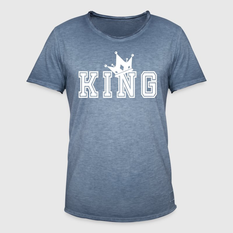 Valentine's Matching Couples King Crown Jersey - Vintage-T-shirt herr