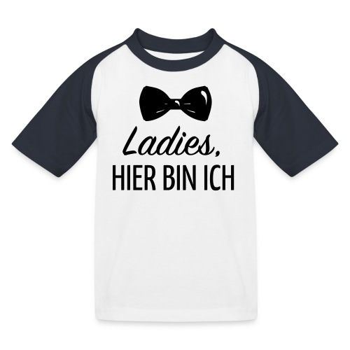 Ladies, hier bin ich T-Shirts - Kinder Baseball T-Shirt