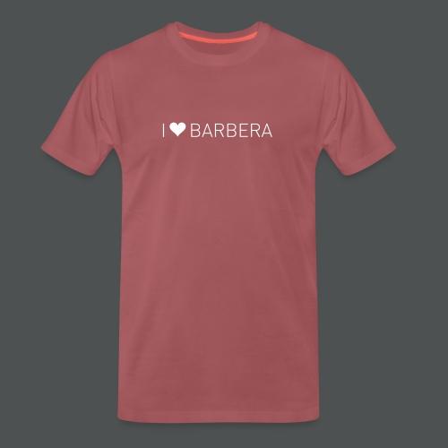 I Love Barbera - Premium T-skjorte for menn