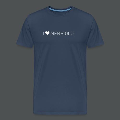 I Love Nebbiolo - Premium T-skjorte for menn