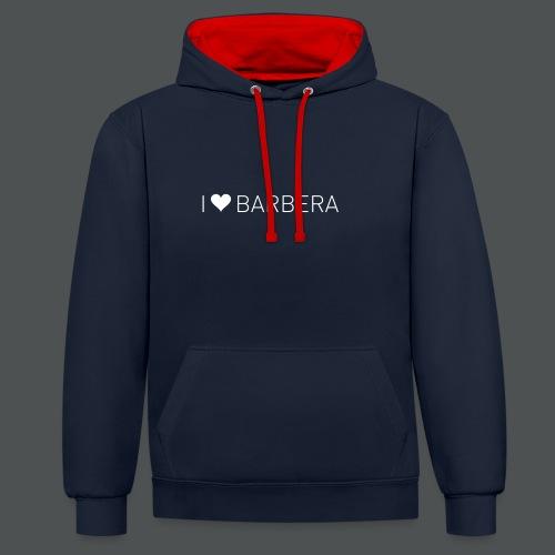 I Love Barbera - Kontrast-hettegenser