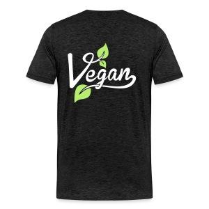 Heren shirt vegan blaadjes  - Mannen Premium T-shirt