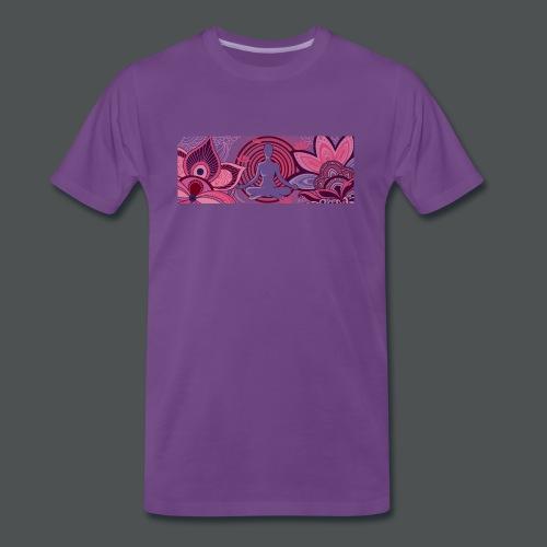 The Meditator - Premium T-skjorte for menn