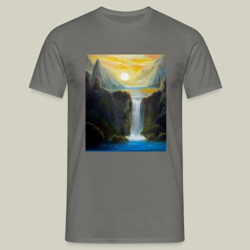Waterfall - Männer T-Shirt