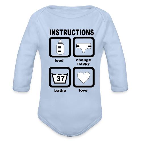 Baby Body mit Gebrauchsanleitung - Baby Bio-Langarm-Body