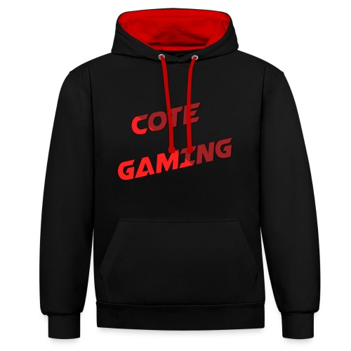 Cote Sweater Rode Letters - Contrast Colour Hoodie