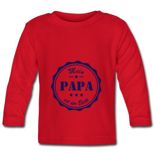 Baby T-Shirt Mein Papa ist der Beste - Baby Langarmshirt