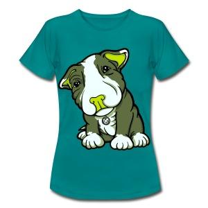 Pit Bull Terrier Puppy Greens - Women's T-Shirt