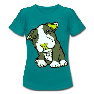 Pit Bull Terrier Puppy Greens - Women's T-Shirt