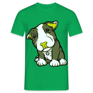 Pit Bull Terrier Puppy Greens - Men's T-Shirt