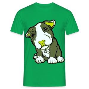 Pit Bull Terrier Puppy Greens - Men's T-Shirt