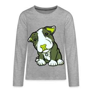 Pit Bull Terrier Puppy Greens - Teenagers' Premium Longsleeve Shirt