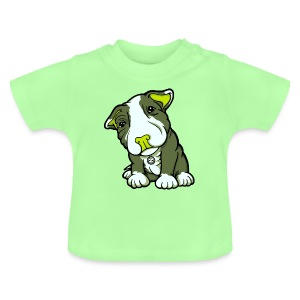 Pit Bull Terrier Puppy Greens - Baby T-Shirt