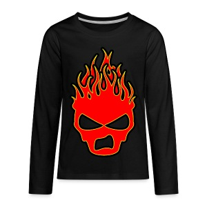 Sookie Sneer Skull Burn Head Logo - Teenagers' Premium Longsleeve Shirt