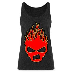 Sookie Sneer Skull Burn Head Logo - Women's Premium Tank Top