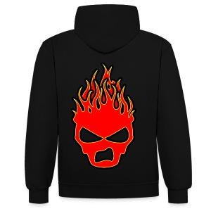 Sookie Sneer Skull Burn Head Logo - Contrast Colour Hoodie