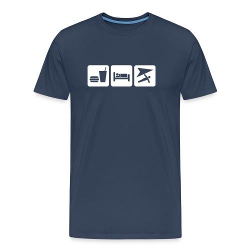 EAT SLEEP HANGGLIDING - Men's Premium T-Shirt