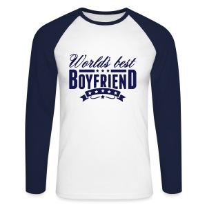 Herren Langarmshirt Worlds Best Boyfriend - Männer Baseballshirt langarm