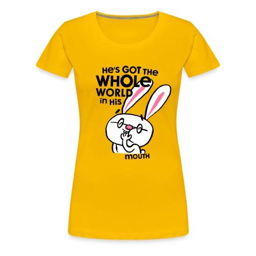 He's Got The Whole World - Frauen Premium T-Shirt