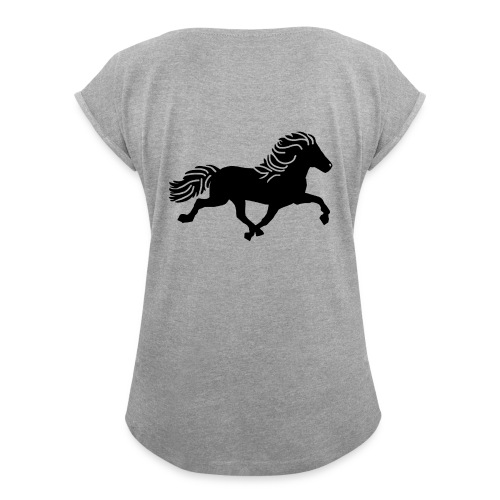 Icelandic rulleærmer - Dame T-shirt med rulleærmer