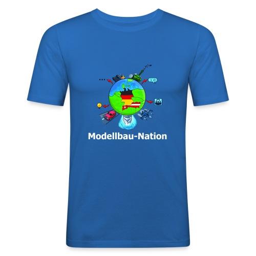 MBN-Shirt Blau - Männer Slim Fit T-Shirt