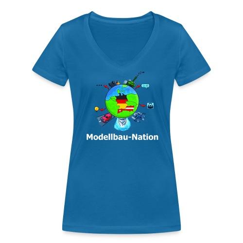 MBN-Top Blau - Frauen Bio-T-Shirt mit V-Ausschnitt von Stanley & Stella