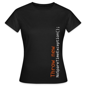 Throw NoSpareTimeException Womens Tee - Women's T-Shirt