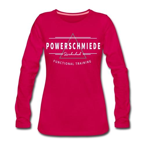Damen Langarmshirt PS_weiß - Frauen Premium Langarmshirt