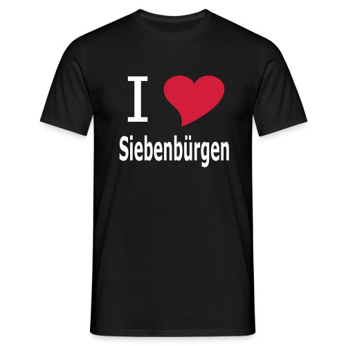 T-Shirt I love Siebenbürgen Transylvania - Erdely - Ardeal - Transilvania - Romania - Rumänien - Männer T-Shirt