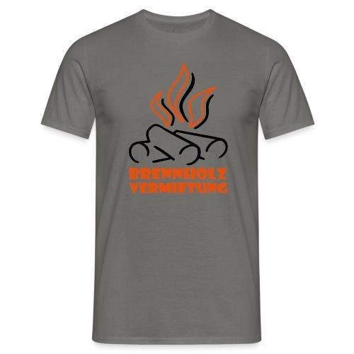 Brennholz Shirt Graphite 185 - Männer T-Shirt
