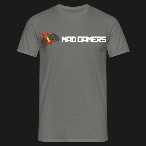 Mad Gamers T-Shirt weißes Logo - Männer T-Shirt