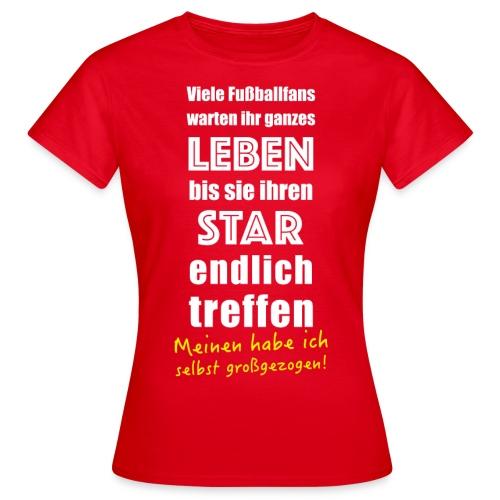 Fußball Tshirt für Fußballer Vater Mutter Fußballfan - Frauen T-Shirt