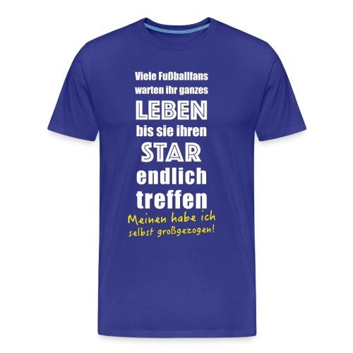 Fußball Tshirt für Fußballer Vater Mutter Fußballfan - Männer Premium T-Shirt